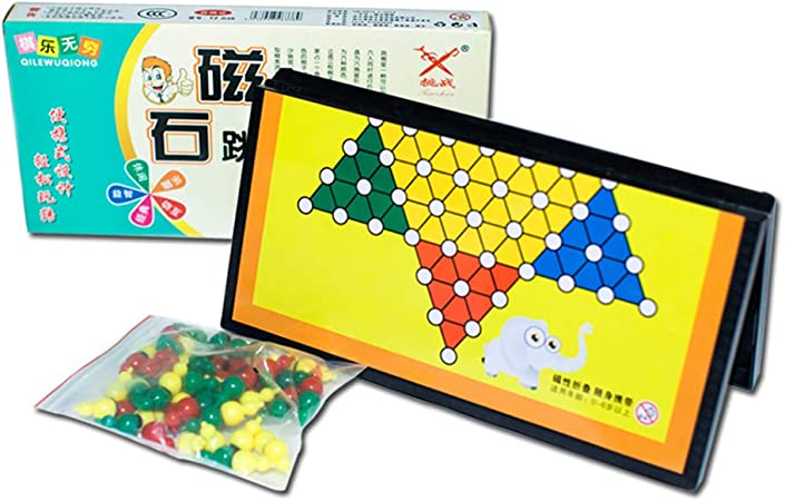 QWEA Damas Chinas magnéticas Tablero de ajedrez Plegable Juguetes ...