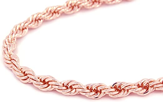 Rose Gold Tone Hip Hop Rope Chain Dookie Chain 10mm 30 Electroplated Amazon Com