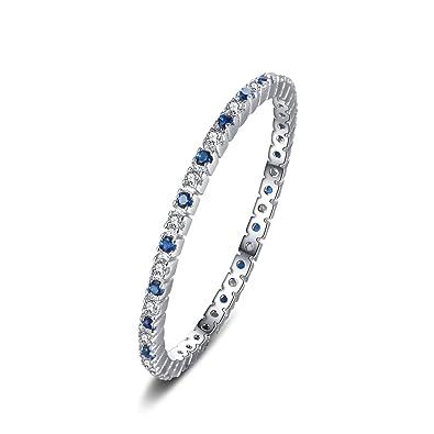 JewelryPalace Anillo de boda Exquisito Espinela azul creado en palta de ley 925: Amazon.es: Joyería