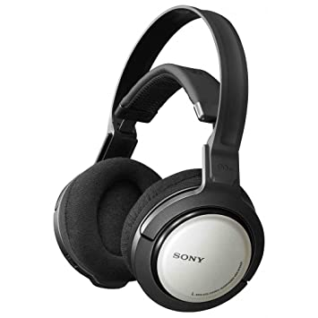 Sony MDR RF 840 RK Wireless Headphones Black Silver  Amazon.co.uk ... 290cffcdd599
