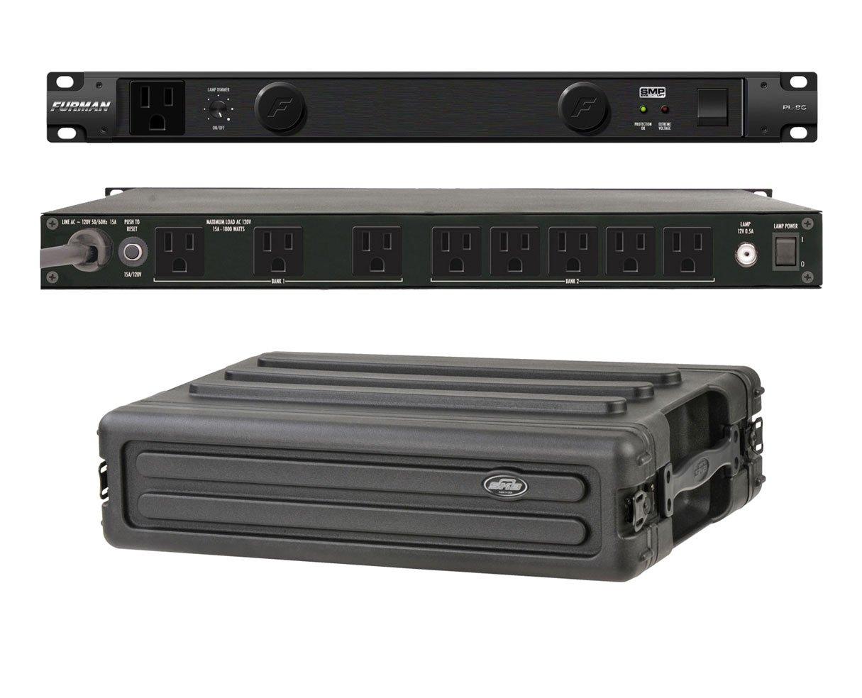 Furman PL-8 C Rack Mount Power Conditioner + SKB 1SKB-R2S 2U Shallow Rack
