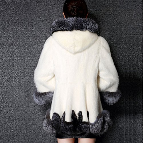 Oversize Parka Autumn Girls Warm Slim Coats Size Outerwear Hoodies Womens Faux Fox Open Casual Sleeve Cardigan Solid Front Plus Fur Belted Outwear MIRRAY Winter White Fur Hooded Long qt5wgxaaB