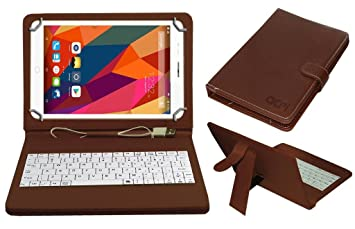 Acm USB Keyboard Case Compatible with Swipe Strike 4g Tablet Cover Stand nbsp;Study Gaming Direct Plug  amp; Play   Brown