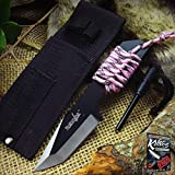NEW! Small Pink Camo Tanto Fixed Blade Survival Elite Knife w/ Firestarter Girl Women + free eBook by ProTactical'US