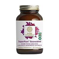 Pure Synergy SuperPure Resveratrol (60 Capsules) w/Trans Resveratrol for Healthy...