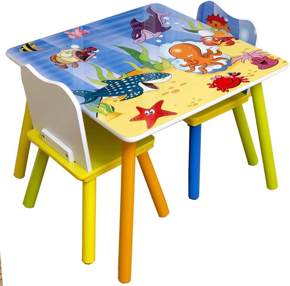 Dfghbn Tabla Juego de sillas para niños Tabla niños y Juego de sillas for la Lectura de Play-Sala Aula del niño de la Silla Infantil Actividad Tabla Juego de sillas Conjuntos de