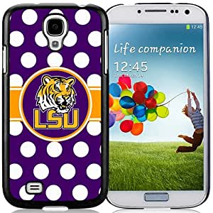 Beautiful And Unique Designed Case For Samsung Galaxy S4 I9500 i337 M919 i545 r970 l720 With Southeastern Conference Sec Football Lsu Tigers 01 Black Phone Case