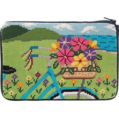 Stitch & Zip Needlepoint Purse Kit- Springtime Ride