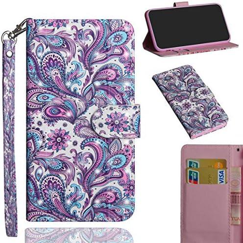 Sony Xperia XZ3 Hülle, SHUYIT Farbe Muster 3D PU Leder Tasche Cover Flip Wallet Case Bookcase Handyhülle Lederhülle Ständer Klapphülle Schutzhülle für Sony Xperia XZ3 Schale Etui