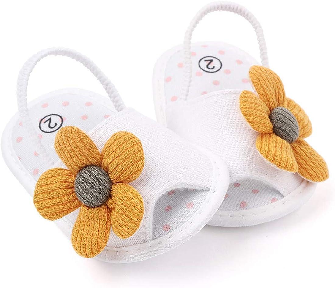 KIDSUN Infant Baby Girls Sandals Elastic Back Strap Flats Slippers Soft Shoes Toddles Boys Faux Fur Slides Shoes First Walker House Shoes