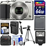 Nikon Coolpix A900 Camera (Silver) + 64GB Card (Certified Refurbished)