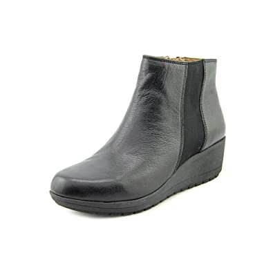 Womens Cheltzie Closed Toe Leather Fashion Boots Black Mule Size 5