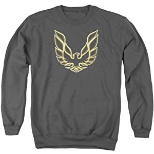 Crewneck Sweatshirt: Pontiac- Iconic Firebird Emblem Size M