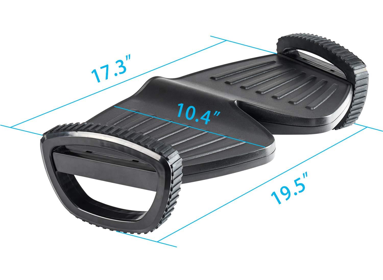 BNC Premium Ergonomic Adjustable Angle Foot Rest F6048-45.6cmX34cmX11cm Black Color