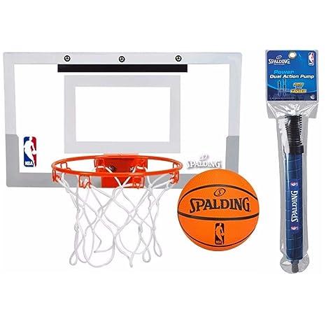 Amazon.com  Spalding NBA Slam Jam Over-The-Door Mini Basketball Hoop Set  and pump bundle  Sports   Outdoors f103a2e1b9