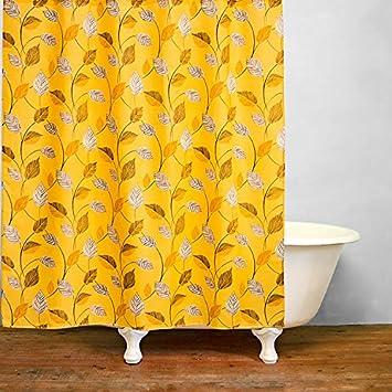 Orange 72 x 79 Inch Ao blare autumn leaf Polyester Fabric Shower Curtain