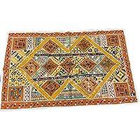 Mogul Banjara Decorative Tapestry Old Sari Patchwork Vintage Wall Hanging