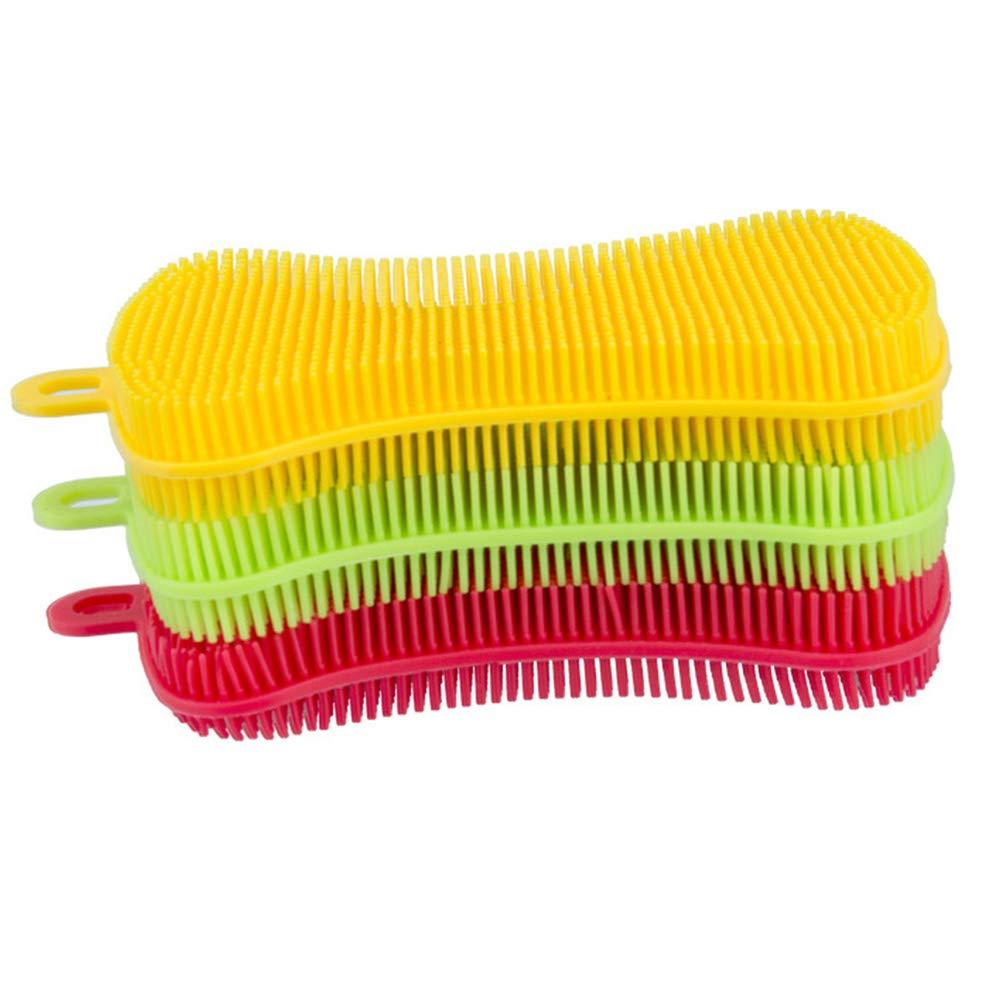 PURATEN - Cepillo de silicona de grado alimenticio para lavavajillas, multiusos, cepillo de lavado de platos antimicrobiano, cepillo de lavado reutilizable ...