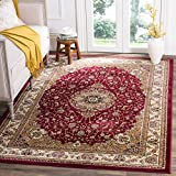 Safavieh Lyndhurst Collection LNH329C Traditional Medallion Red and Ivory Square Area Rug (8' Square)