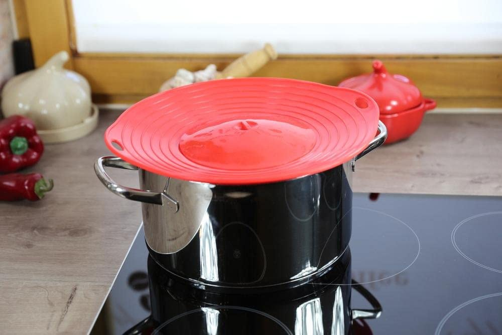 Culinario Couvercle de protection contre les d/ébordements id/éal pour les casseroles dun diam/ètre de 16 /à 28 cm