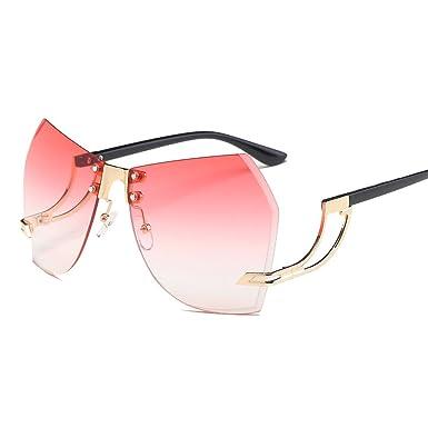 90ffdba2b35 Amazon.com  Sun Vu Glass Fashionable Frameless Sun Glass Personality ...