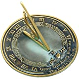 """Rome RM2308 Brass Sundial """"Grow Old With Me"""""""