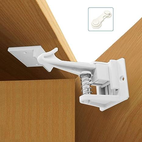 12 Pack Cerraduras de Seguridad para Niños Bebe, Diseño Invisible Cierres de seguridad Para Cajones Armarios Cerraduras de Armario, con Adhesivo Fuerte (12 cerraduras + 1 Regalar): Amazon.es: Bebé