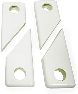 product image for Gettysburg Flag Works Flagpole Snap Cover Pair (Qty 4) for Noise Reduction on in ground flagpole Clips, White