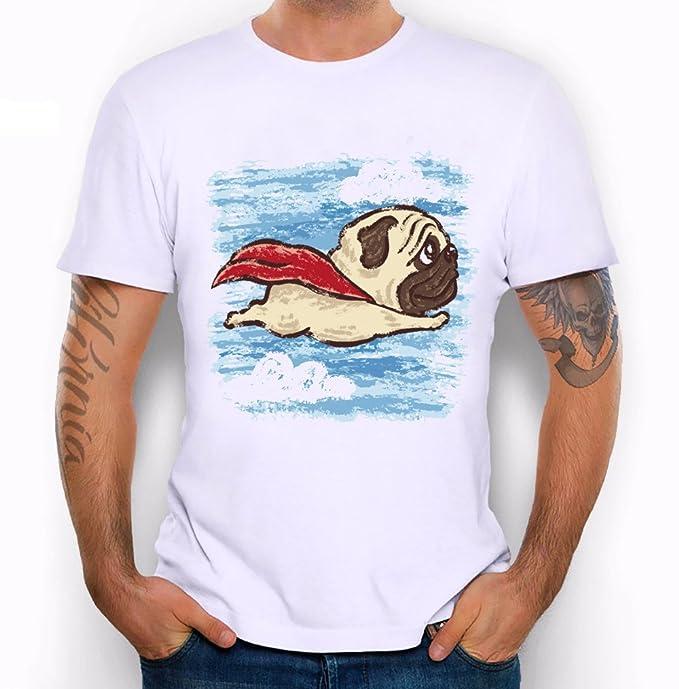 dedf9ddd perfectme Cool New Men's Flying Pug Dog Print T Shirt Men Summer Funny  Hipster Brand Animal