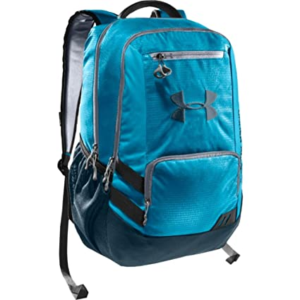 Amazon.com  Under Armour Hustle Backpack - One - Blue  Computers    Accessories af8c25a02525c