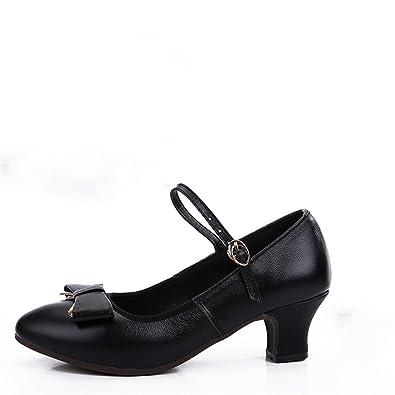 Schuhe Cm Weibliche Tanz Schwarze 5 Wxmddn Absatz Vier nO8wPkX0
