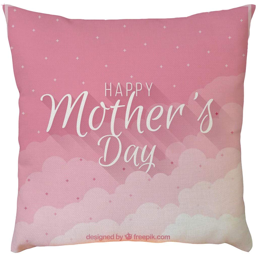 2019 EOWEO Happy Mother's Day Sofa Bed Home Decoration Festival Pillow Case Cushion Cover(43cm×43cm,C)