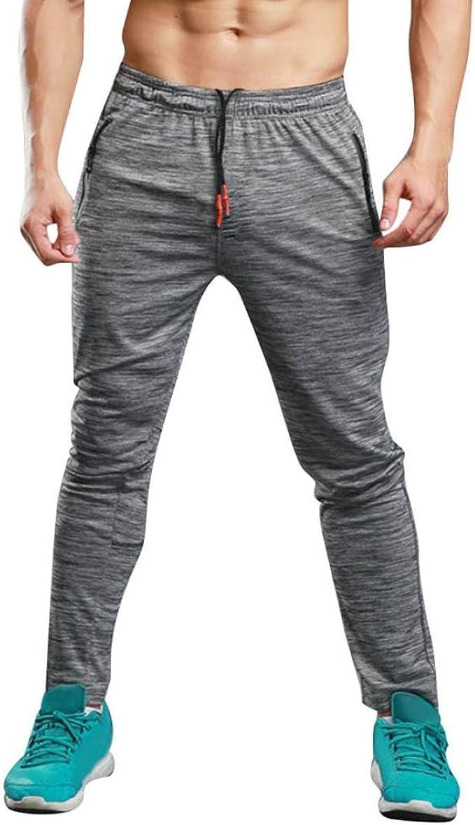 Pantalones de Hombre Largo Deportes Gimnasio Ajustado Corriendo ...