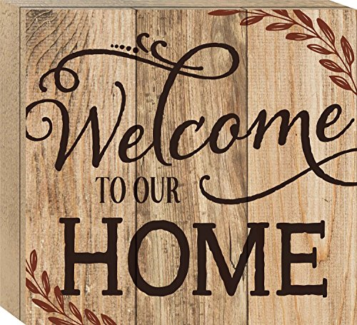 Welcome to Our Home Rustic 10 x 11 Wood Boxed Pallet Wall Ar