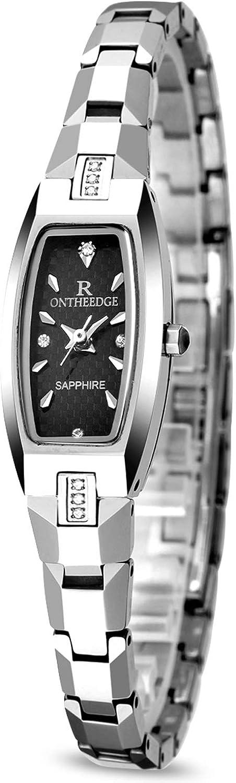RORIOS Elegante Mujer/Niña Relojes de Pulsera Acero de Tungsteno Band Relojes de Mujer