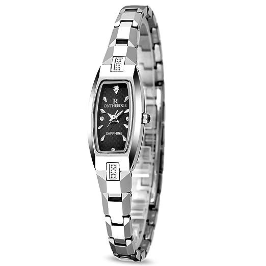 RORIOS Elegante Mujer/Niña Relojes de Pulsera Acero de Tungsteno Band Relojes de Mujer Impermeable: Amazon.es: Relojes