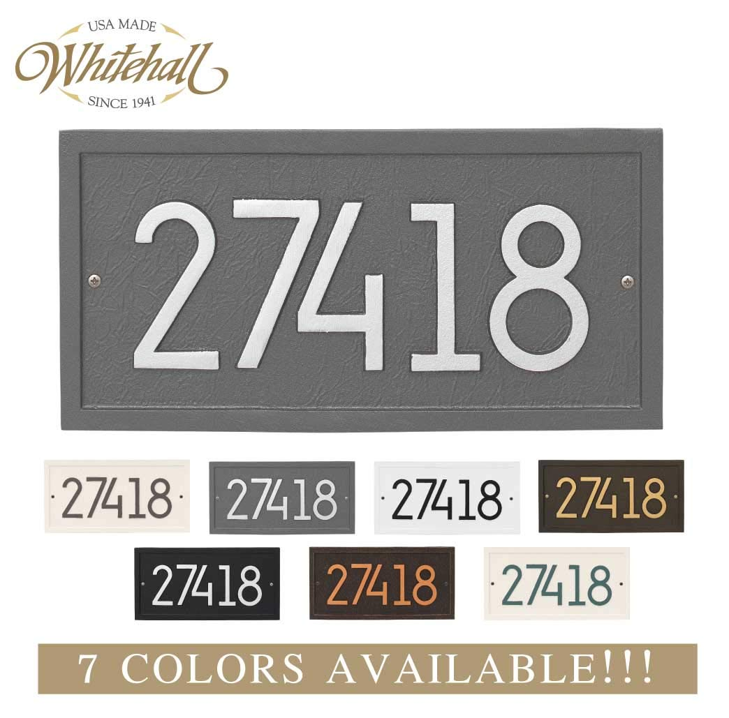 Metal Address Plaque Personalized Cast The Modern Rectangle. Display Your Address and Street Name. Custom House Number Sign.