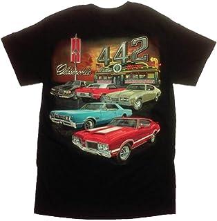 1c7dbe37c Amazon.com: Hot Rod Apparel Company Olds 442 - Cutlass T-Shirt - 100 ...