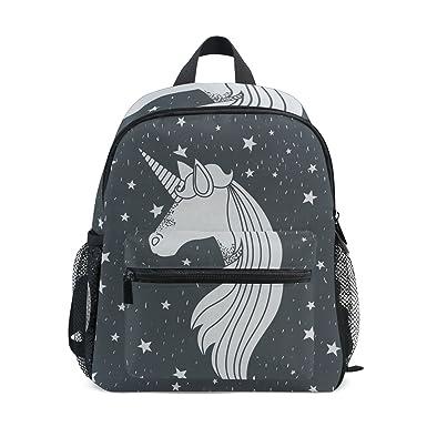 Amazon Com Monochrome Unicorn Black Preschool Bag Kids Backpack