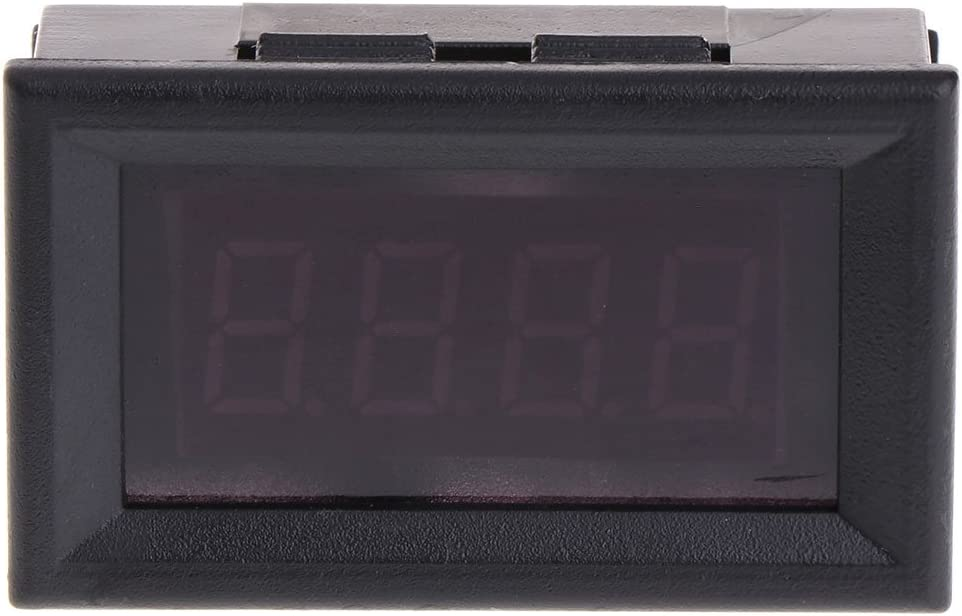 Sara-u 2 in 1 LED Tachometer Gauge Digital RPM Voltmeter for Auto Motor Rotating Speed
