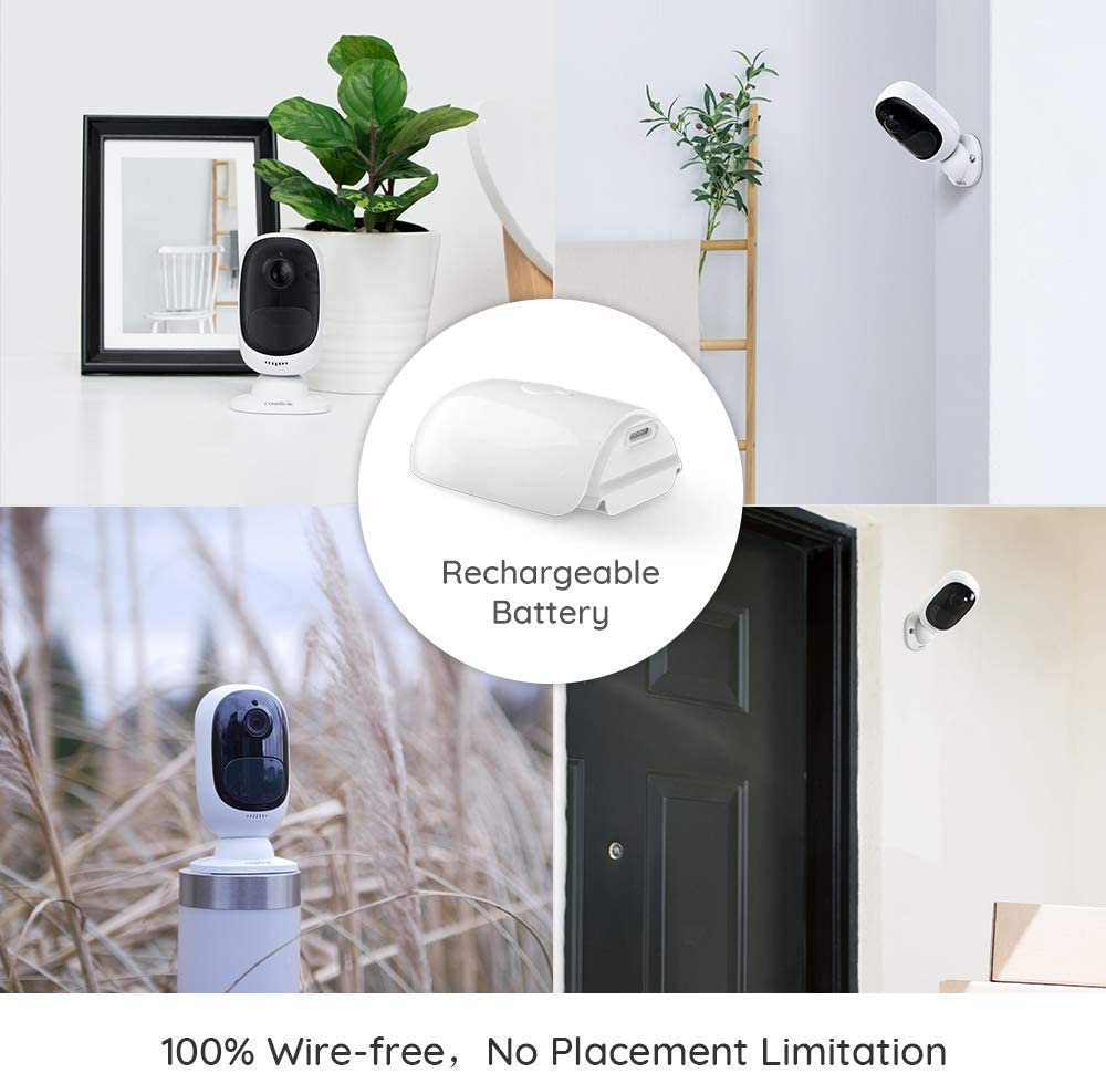 Security Camera Outdoor, Wireless Rechargable Battery