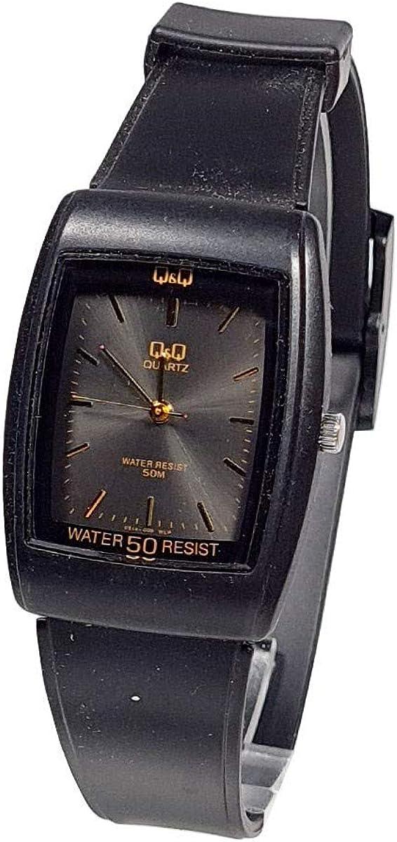 Reloj unisex Q&Q by Citizen de goma negro vintage