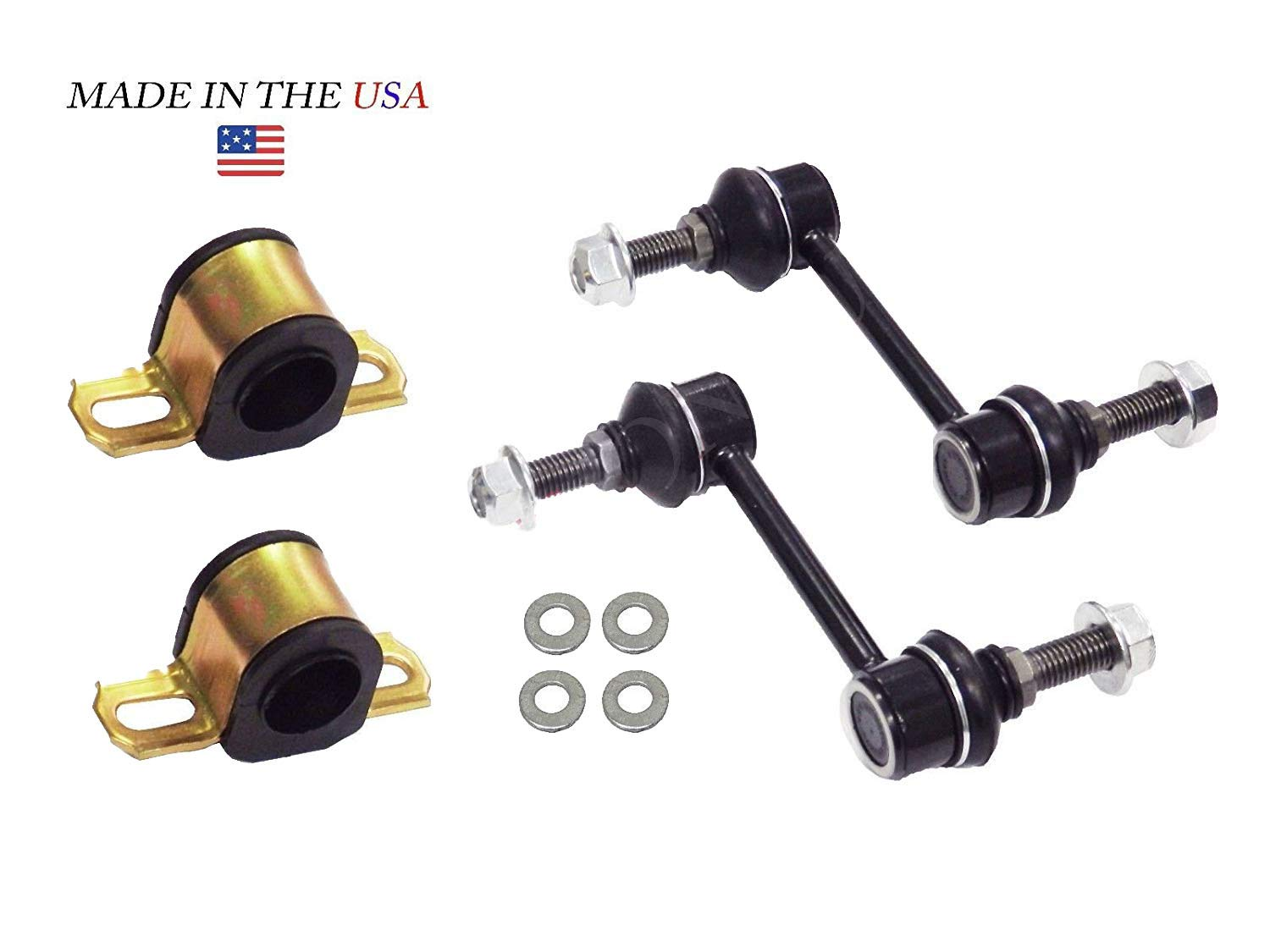 K750159 FITS Ford Edge Lincoln MKX Suspension Dudes 4PC Front SWAY BAR Link KIT with BUSHINGS