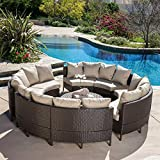 Model No. AWE-CTWY-5PC-SF032 – Wicker Rattan Patio Sofa Furniture Cushion Outdoor Chaise Lounge Set Adjustable Garden Cushioned Sun Lounger 5 pc Black For Sale