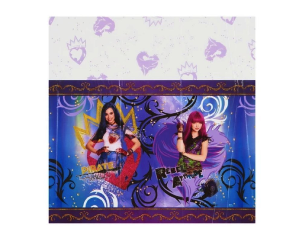 designware Descendants 2 Evie and Mal Girls Birthday Party Tablecloth 54 x 96 inches