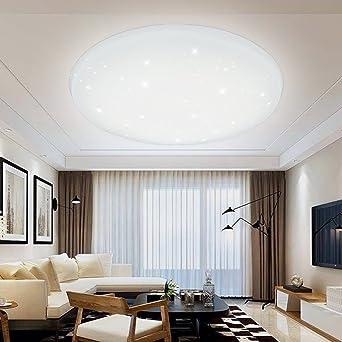 VINGO® 60W LED Deckenleuchte Wohnzimmerlampe Kaltweiß Rund Wandleuchte  Deckenbeleuchtung Modern Beleuchtung Sternen Himmel Sternenhimmel IP44