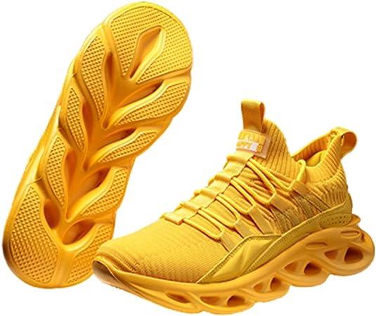 Zapatillas Running Aire Libre Y Deporte Transpirables Casual Zapatillas Running para Hombre Casual Tenis Asfalto Zapatos Deporte Fitness Gym Correr Gimnasio Sneakers,Amarillo,44: Amazon.es: Hogar