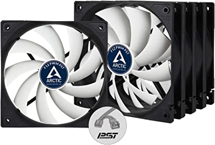 ARCTIC F12 PWM PST Value Pack - 120 mm PWM PST Case Fan with PWM Sharing Technology (PST), Five Pack, quiet motor, Computer, Fan Speed: 230-1350 RPM: Amazon.co.uk: Computers & Accessories