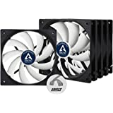 Arctic F12 PWM PST Value Pack F12 PWM PST - 120 mm PWM PST Case Fan - Five Pack | Cooler with Standard Case | PST-Port…