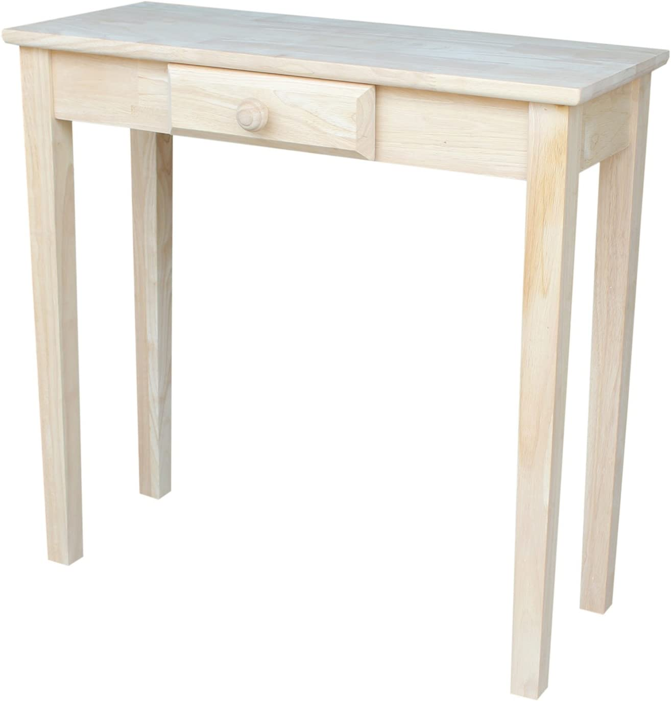 International Concepts Rectangular Hall Table, Unfinished